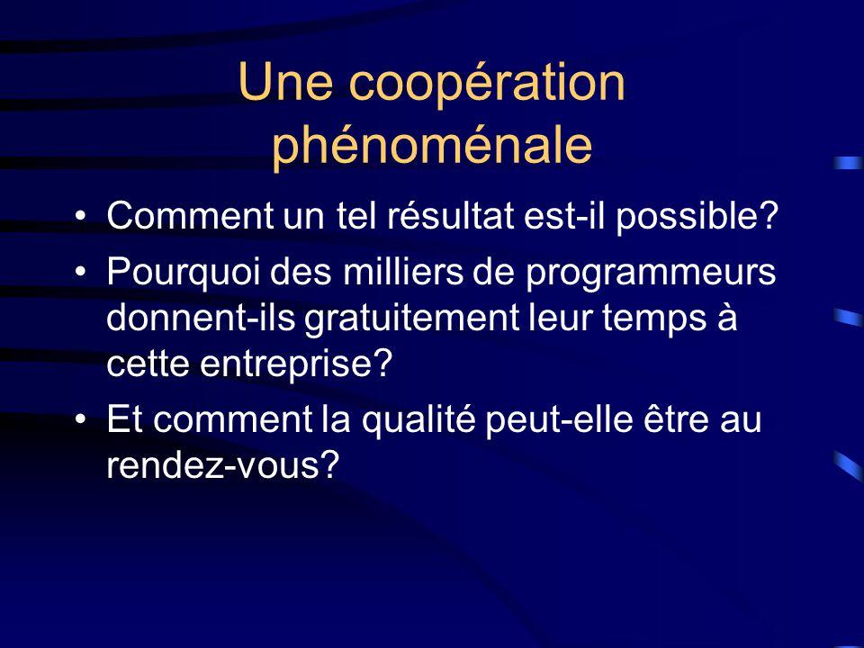 Une coopération phénoménale Comment un tel résultat est-il possible.
