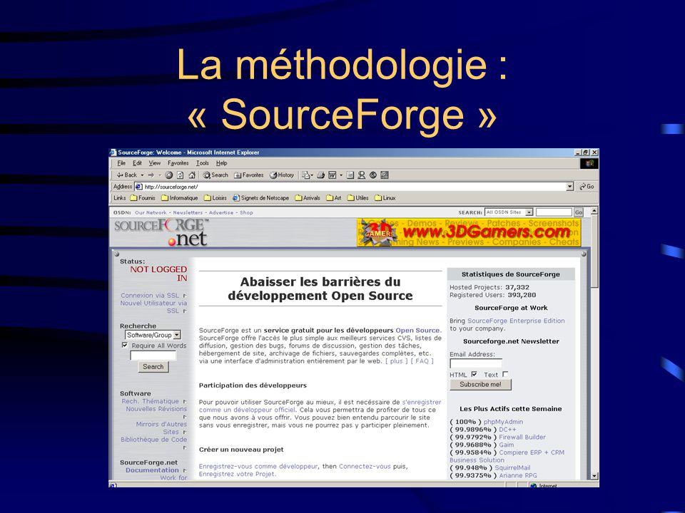 La méthodologie : « SourceForge »