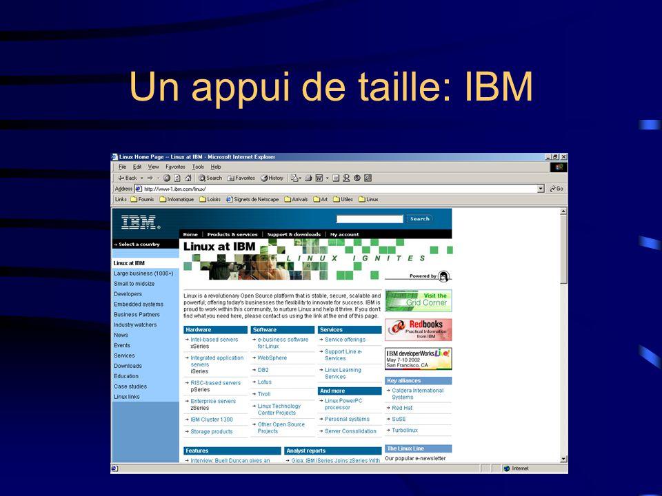 Un appui de taille: IBM