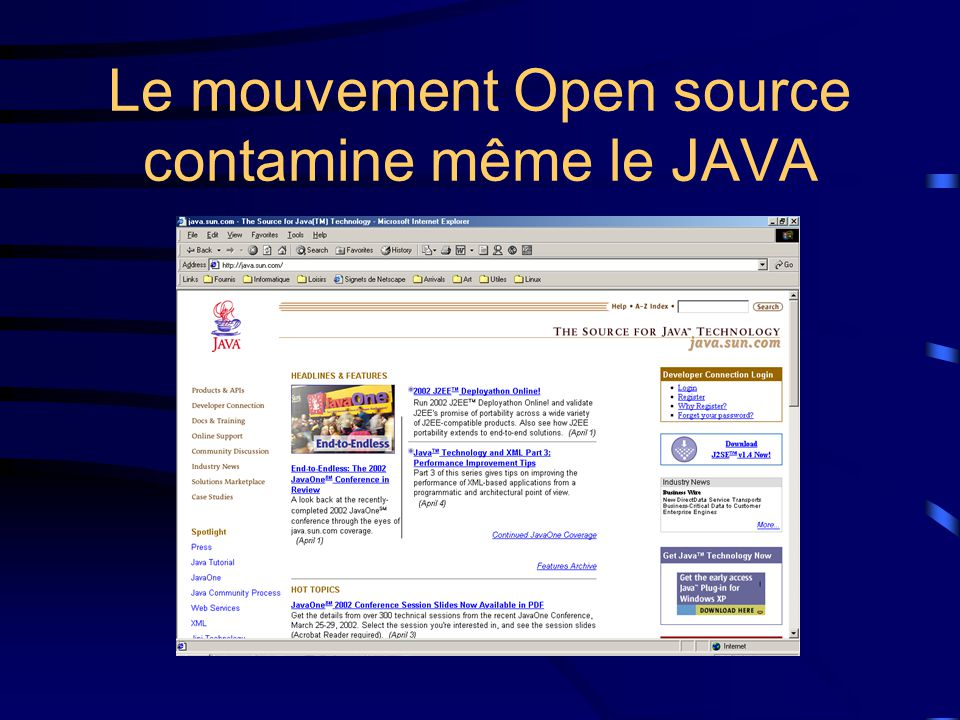 Le mouvement Open source contamine même le JAVA