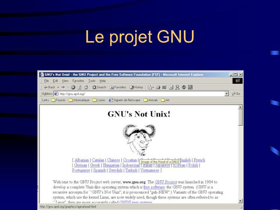 Le projet GNU