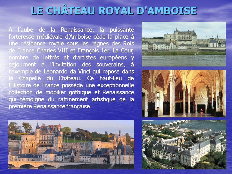 A l'aube de la Renaissance, la puissante forteresse médiévale d'Amboise cède la place à une résidence royale sous les règnes des Rois de France Charle