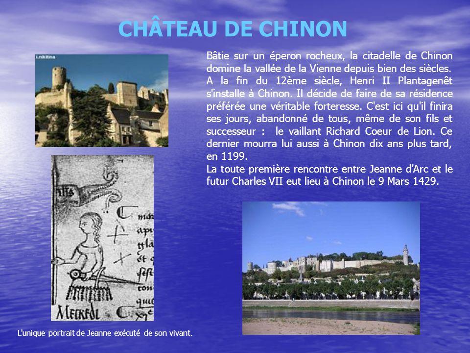 Bâtie sur un éperon rocheux, la citadelle de Chinon domine la vallée de la Vienne depuis bien des siècles. A la fin du 12ème siècle, Henri II Plantage