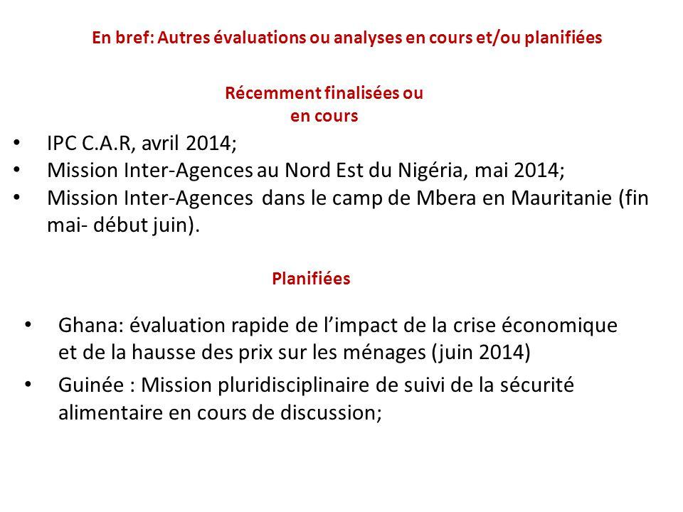 En bref: Autres évaluations ou analyses en cours et/ou planifiées Ghana: évaluation rapide de l'impact de la crise économique et de la hausse des prix