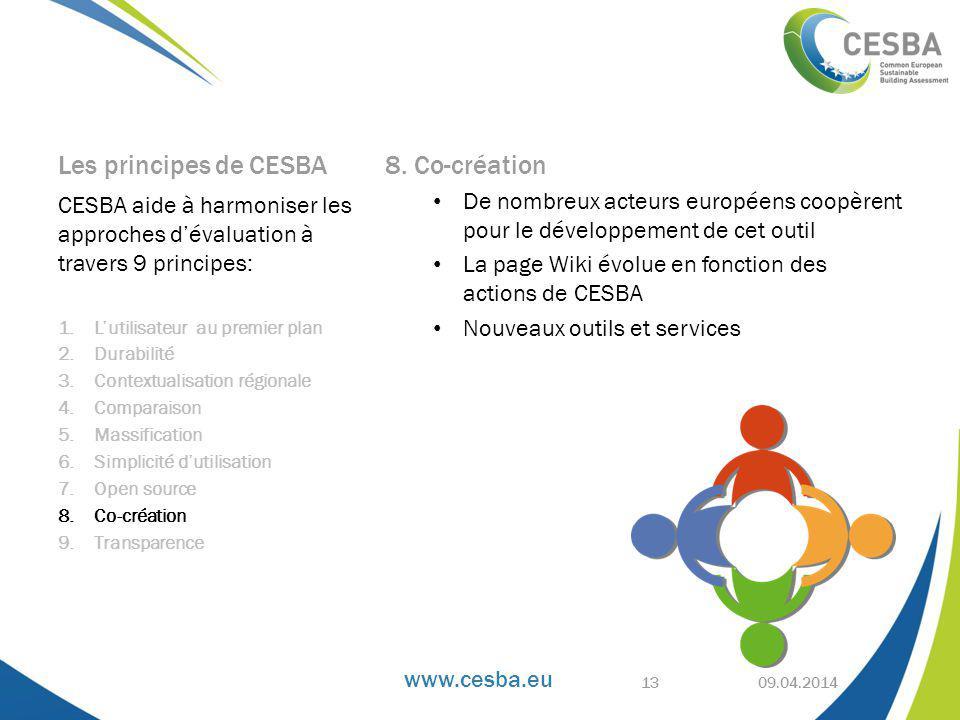 www.cesba.eu Les principes de CESBA 8.