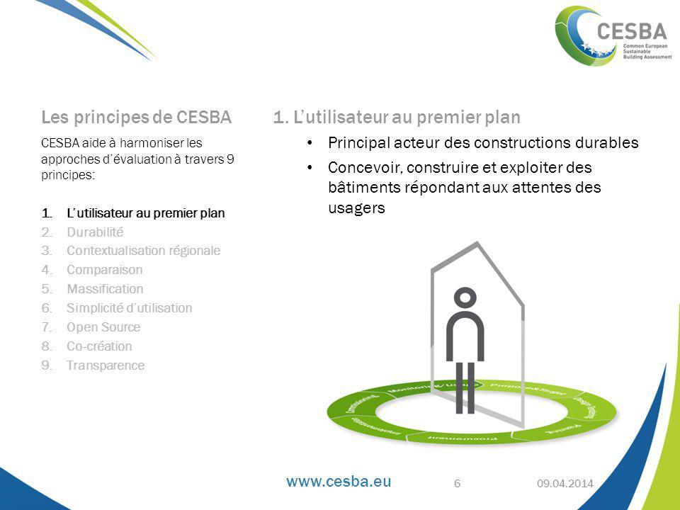 www.cesba.eu Les principes de CESBA 1.