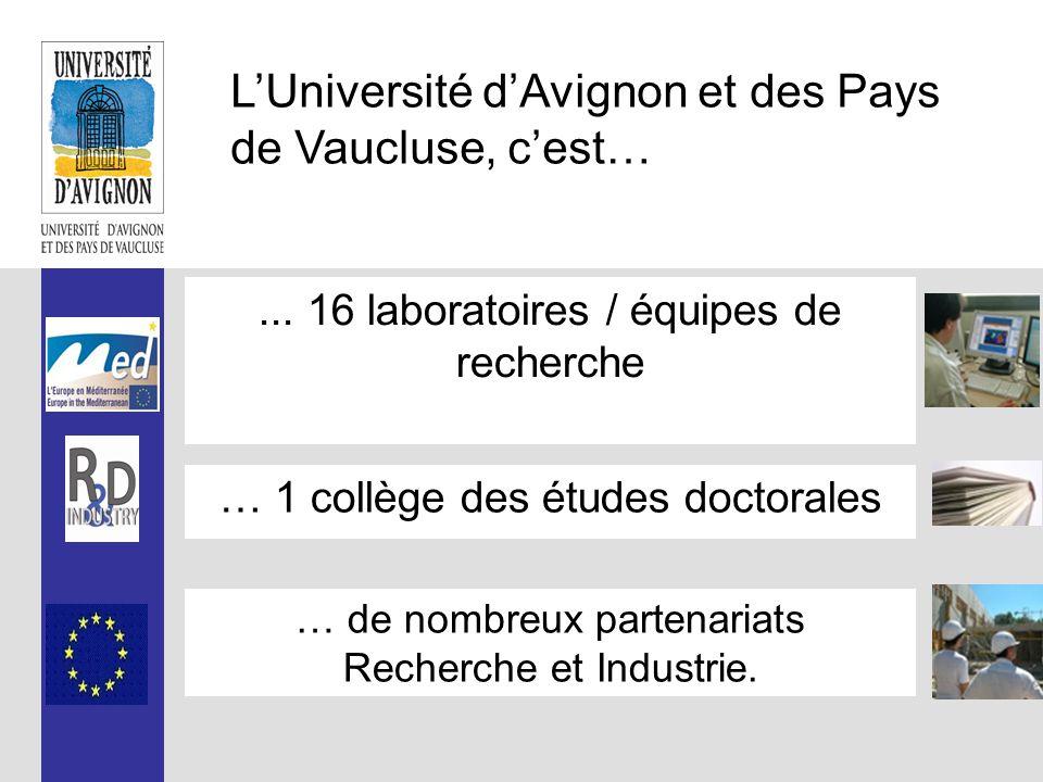 L'Université d'Avignon et des Pays de Vaucluse, c'est… Une université pluridisciplinaire (hors santé) Des études de la Licence au Doctorat, traditionnelle ou en alternance, académique ou professionnelle.