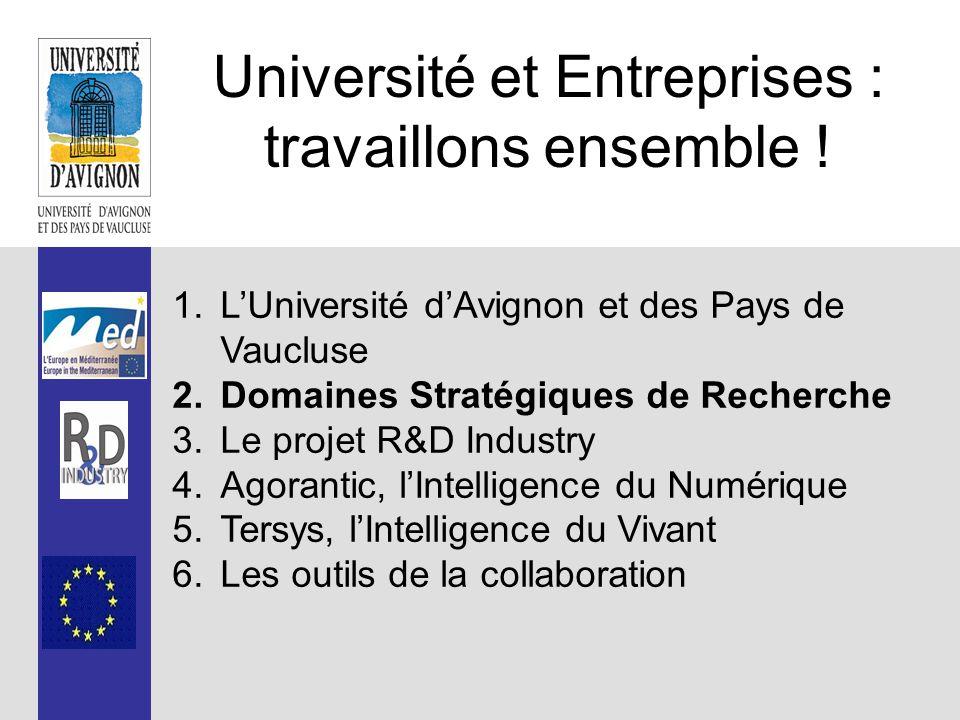 Université et Entreprises : travaillons ensemble .