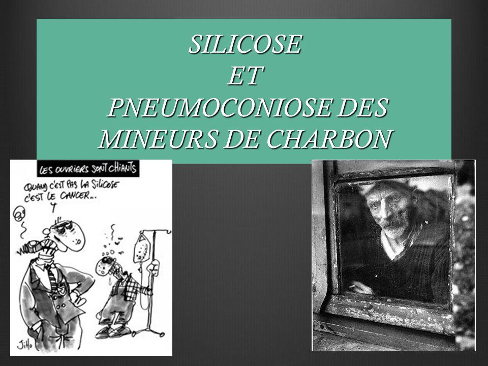 SILICOSE ET PNEUMOCONIOSE DES MINEURS DE CHARBON