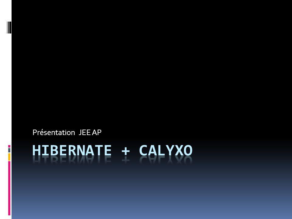Hibernate + Calyxo  Introduction  Cas d'étude  Conclusion