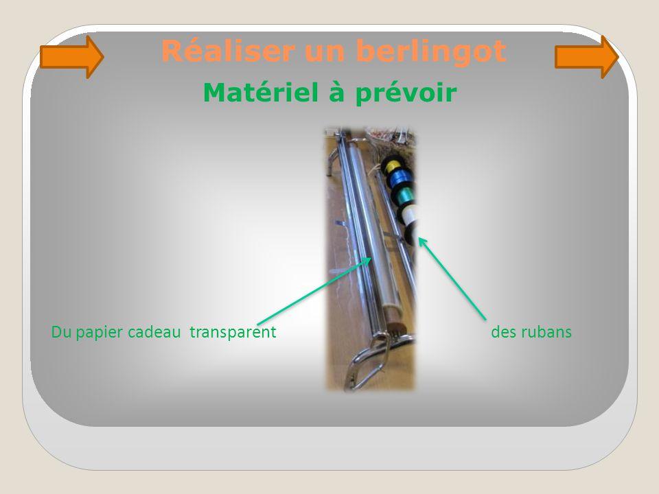 Réaliser un berlingot Matériel à prévoir Du papier cadeau transparent des rubans