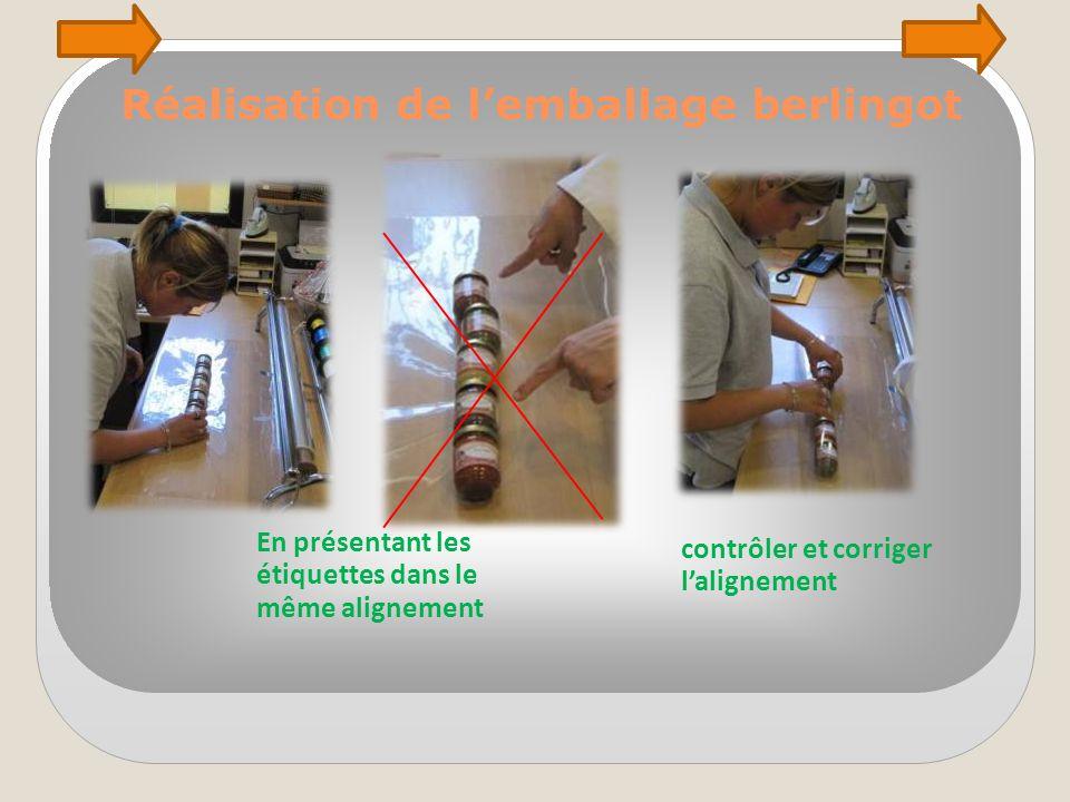 Réalisation de l'emballage berlingot Former le tube de papier transparent Autour des tubes Et serrer le papier aux extrémités en le tournant