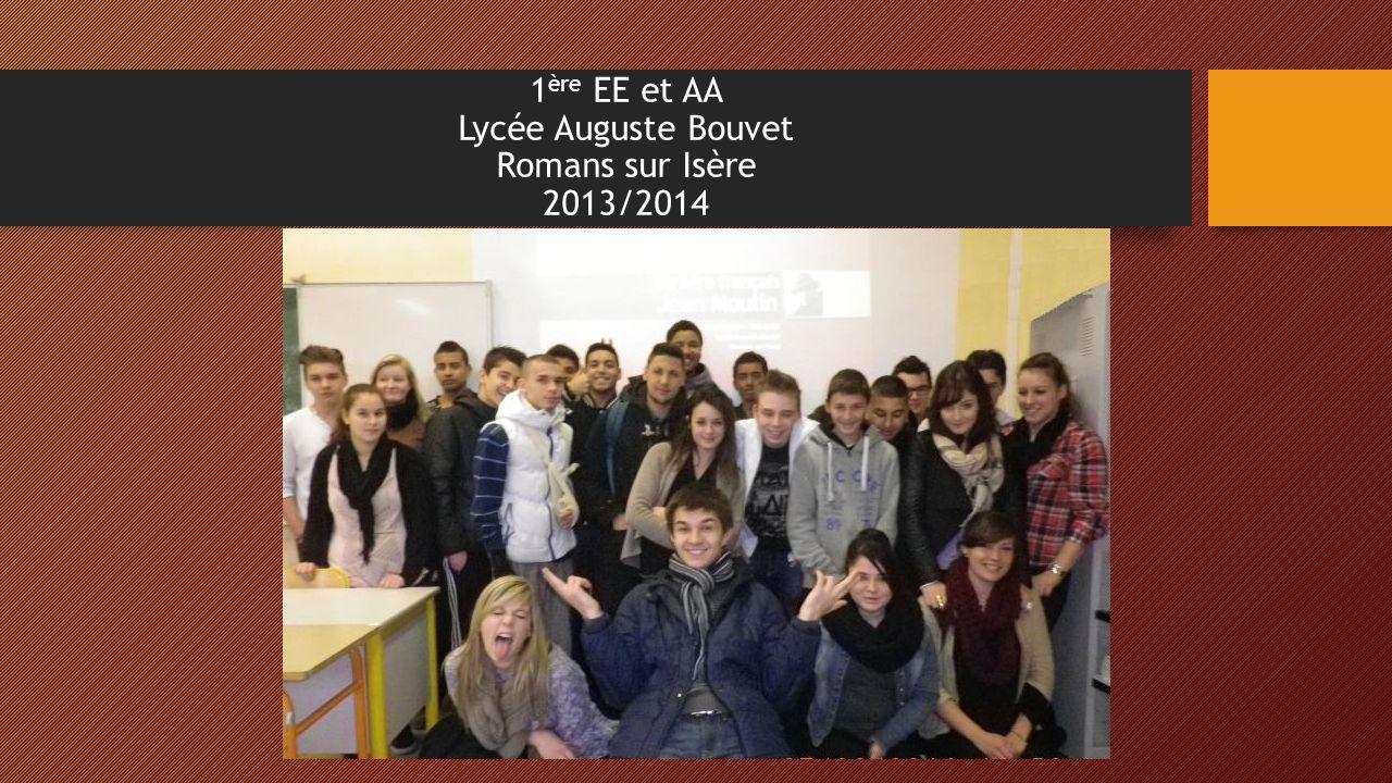 1 ère EE et AA Lycée Auguste Bouvet Romans sur Isère 2013/2014