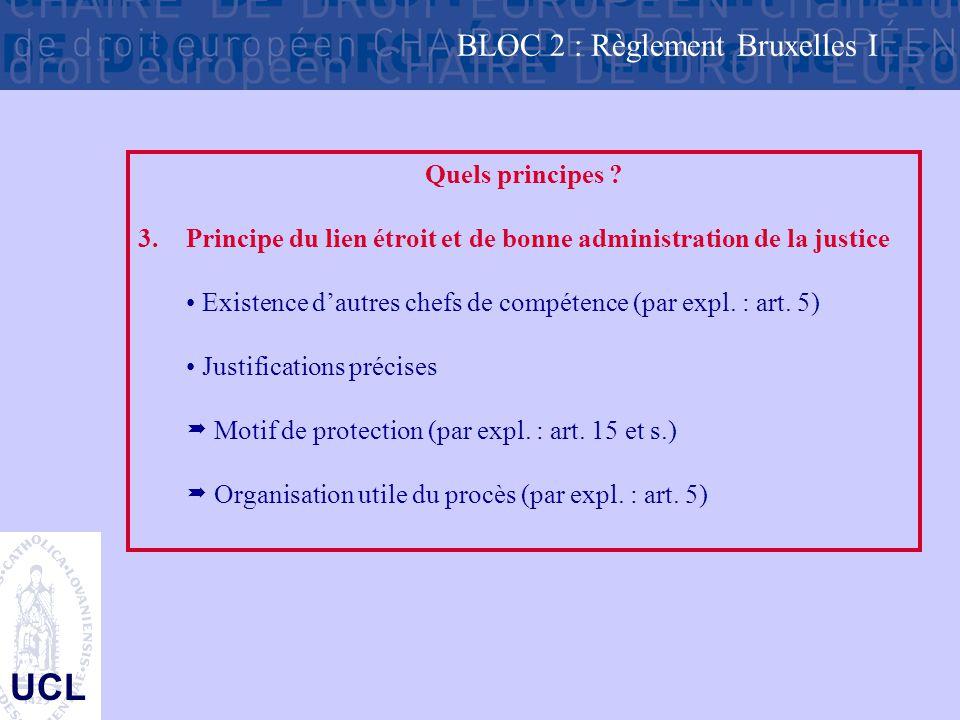 UCL Quels principes .