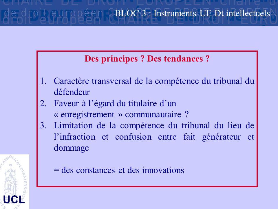 UCL Des principes .Des tendances . 1.