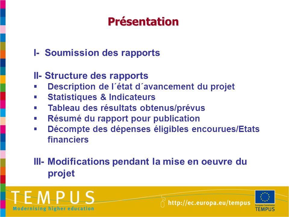 Description de l´avancement de l´action: quelques conseils Exemples de Pérennité  Accréditation d´un nouveau programme d´enseignement.