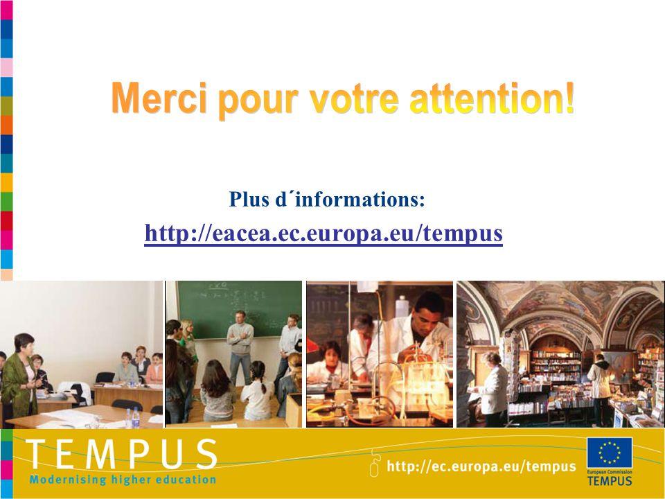 Plus d´informations: http://eacea.ec.europa.eu/tempus
