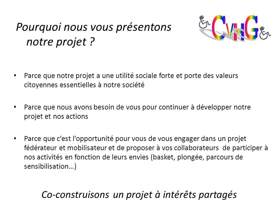 Pourquoi nous vous présentons notre projet .