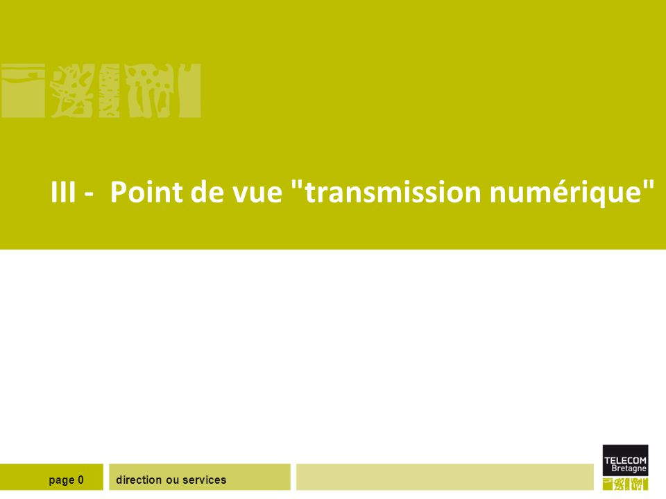 direction ou servicespage 0 III - Point de vue
