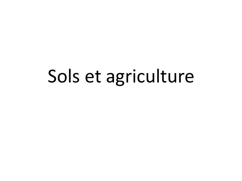 Sols et agriculture