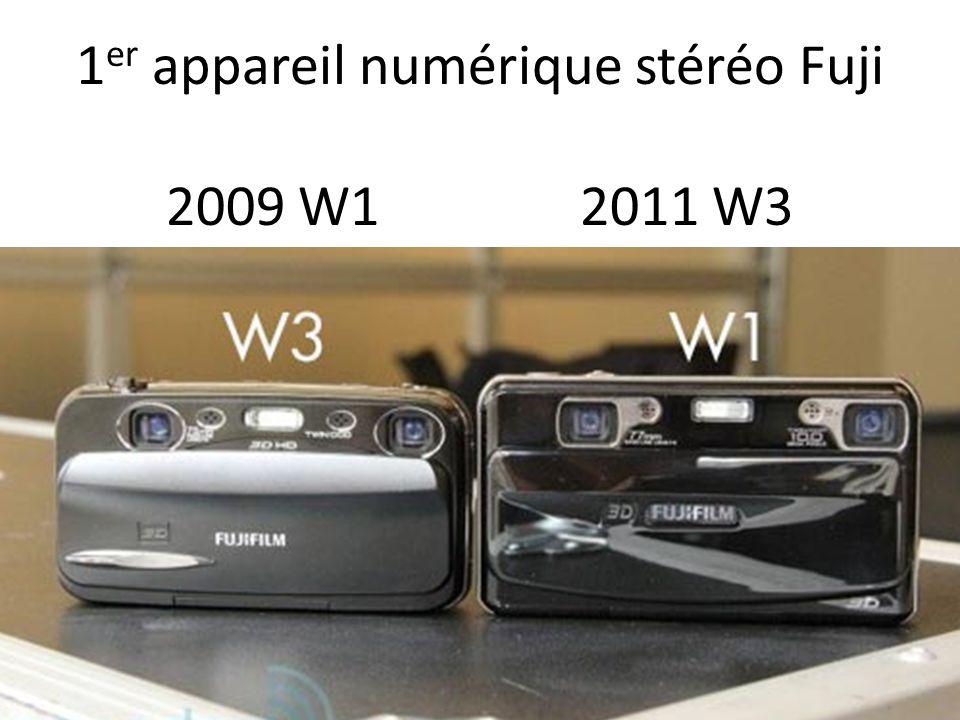 1 er appareil numérique stéréo Fuji 2009 W1 2011 W3
