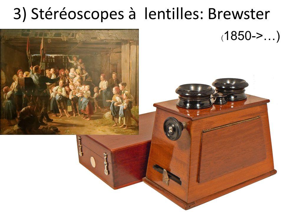 3) Stéréoscopes à lentilles: Brewster ( 1850->…)
