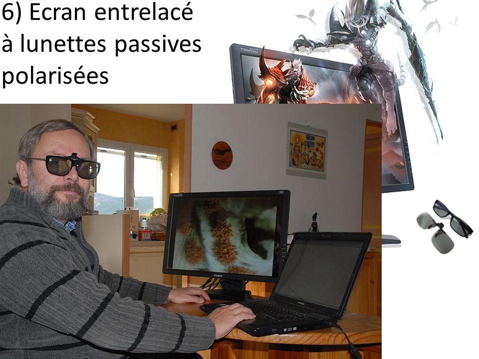 6) Ecran entrelacé à lunettes passives polarisées