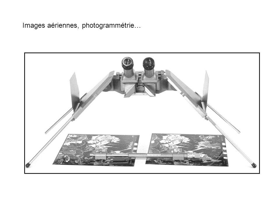 Images aériennes, photogrammétrie…
