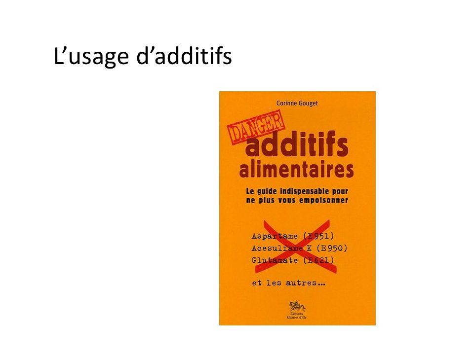 L'usage d'additifs