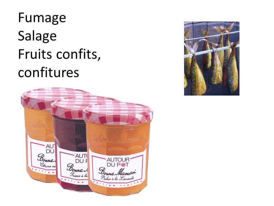 Fumage Salage Fruits confits, confitures