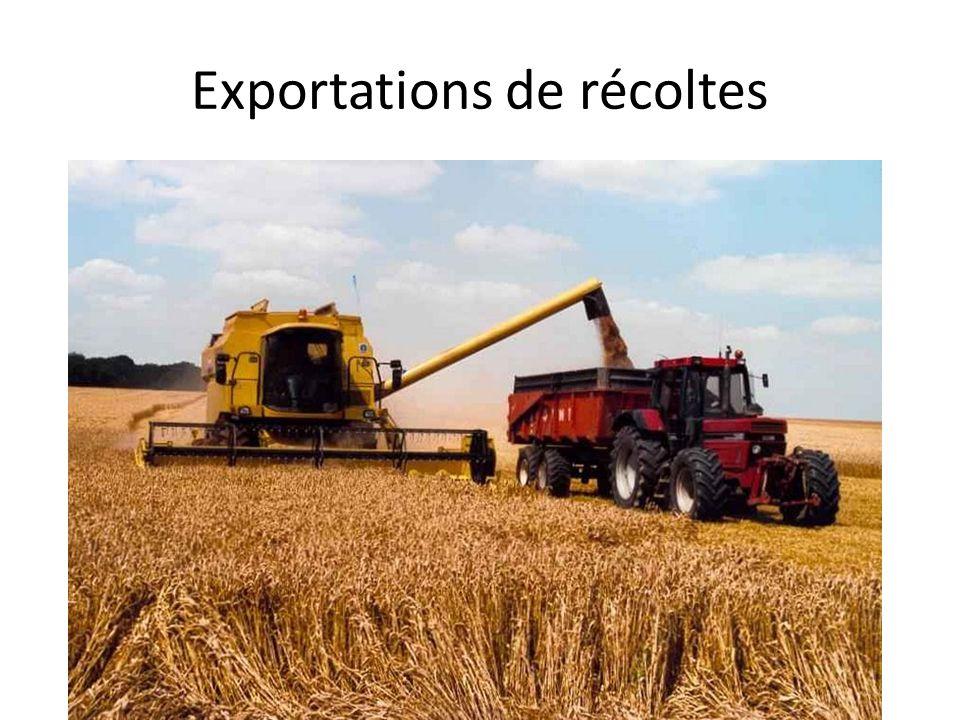 Exportations de récoltes