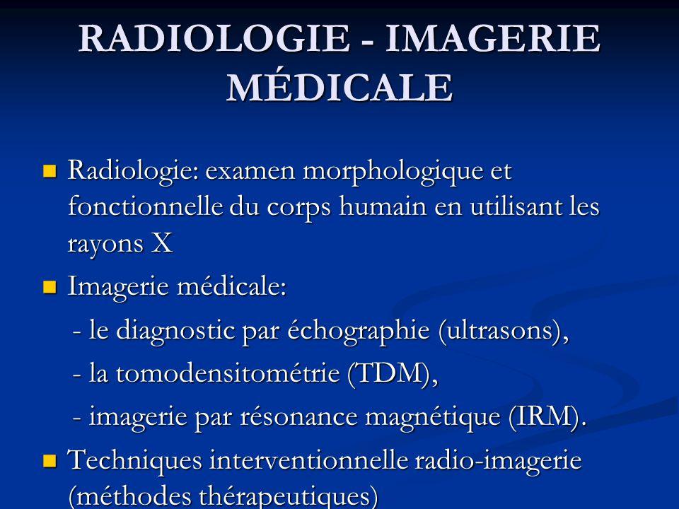 Radiologie diagnostique et des méthodes imagerie x-ray classiques (fluoroscopie), x-ray classiques (fluoroscopie), radiographie, radiographie, X-ray tomodensitométrie (TDM), X-ray tomodensitométrie (TDM), imagerie par résonance magnétique (IRM), imagerie par résonance magnétique (IRM), échographie SPECT et PET échographie SPECT et PET