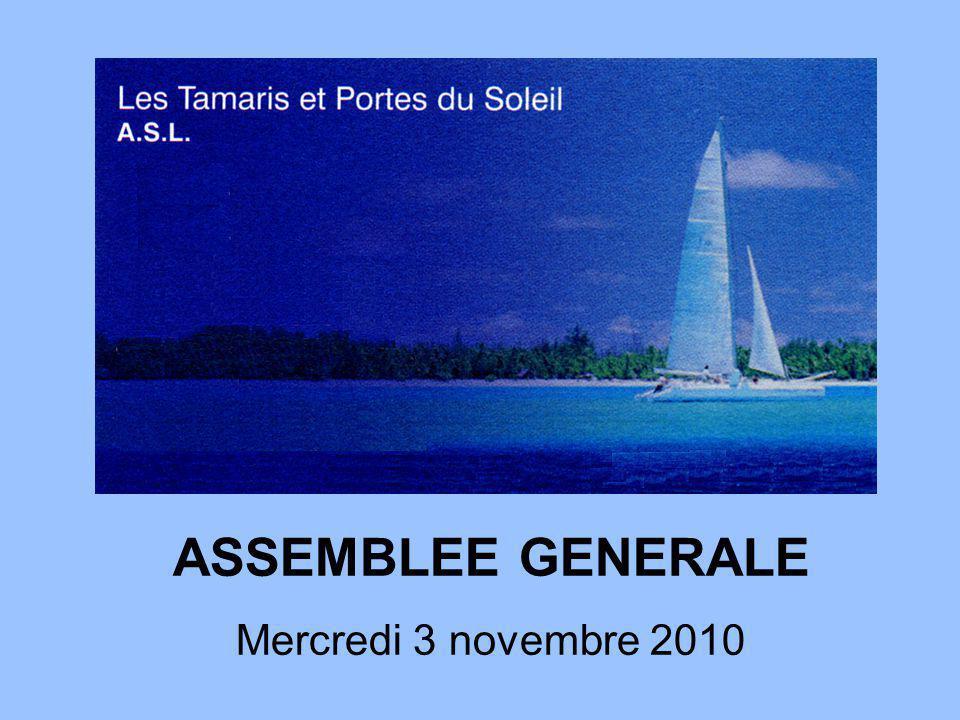 ASSEMBLEE GENERALE Mercredi 3 novembre 2010