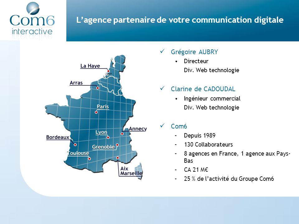 L'agence partenaire de votre communication digitale Grégoire AUBRY Directeur Div.
