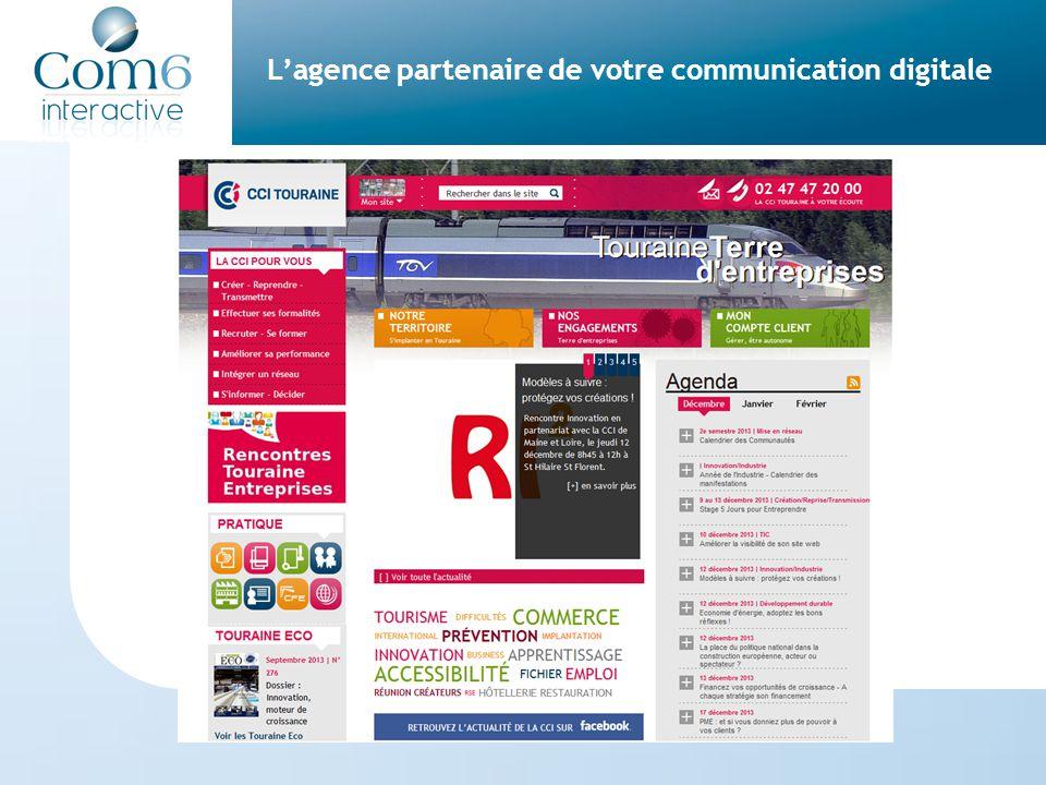 L'agence partenaire de votre communication digitale Com6 s'engage à livrer des sites Internet en Conformité avec la loi du 11 février 2005 sur l'égalité des chances et l'accessibilité (Décret n° 2009-546 du 14 mai 2009)
