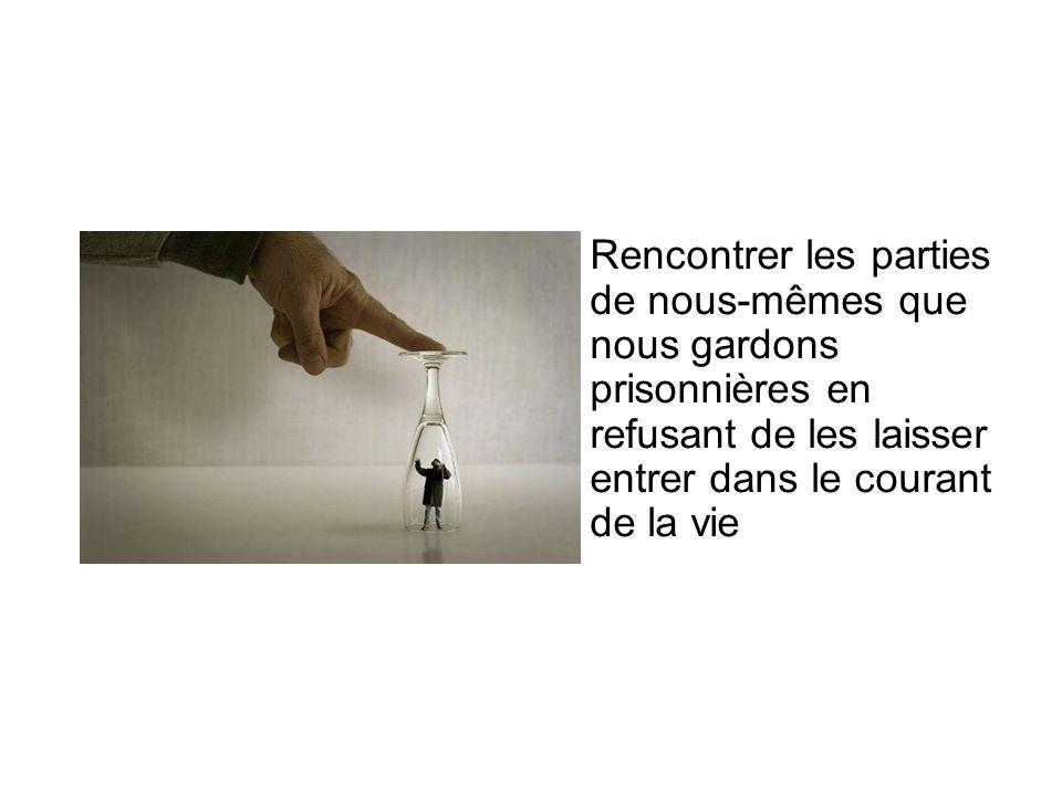 Rencontrer les parties de nous-mêmes que nous gardons prisonnières en refusant de les laisser entrer dans le courant de la vie