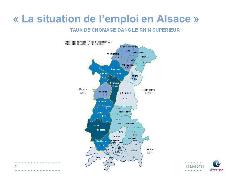 13 MAI 20146 « La situation de l'emploi en Alsace » Quels sont les enjeux pour l'Alsace.