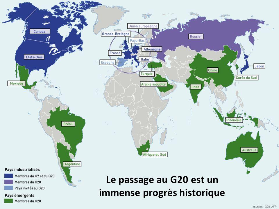 Le passage au G20 est un immense progrès historique