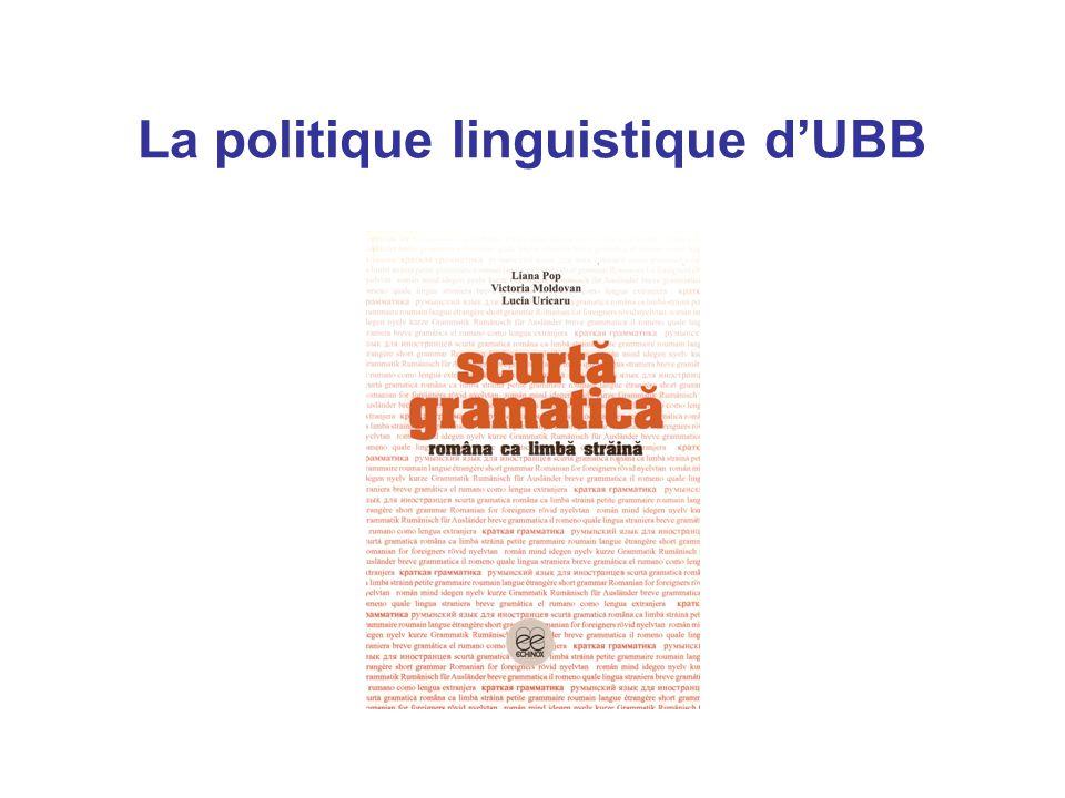 La politique linguistique d'UBB