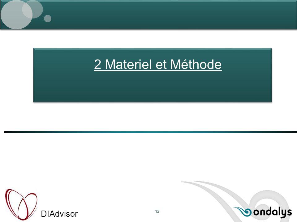 DIAdvisor 12 2 Materiel et Méthode