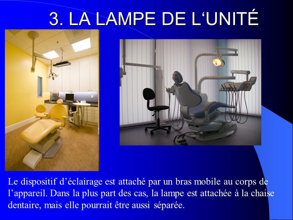 3. LA LAMPE DE L'UNITÉ Le dispositif d'éclairage est attaché par un bras mobile au corps de l'appareil. Dans la plus part des cas, la lampe est attach