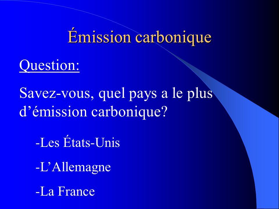 Émission carbonique
