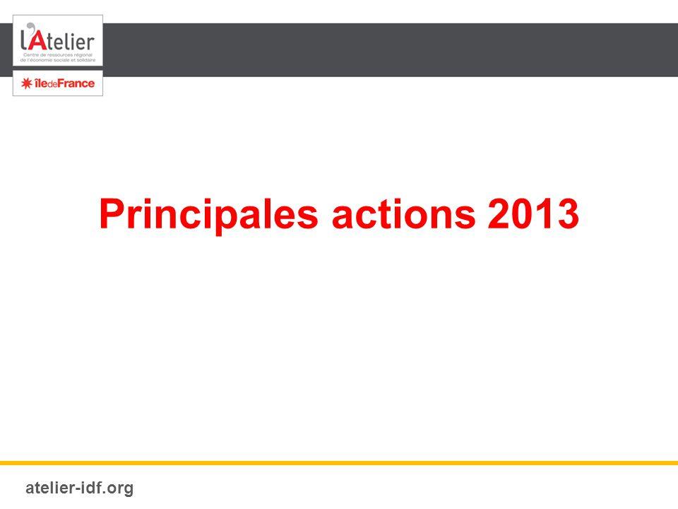 atelier-idf.org Principales actions 2013