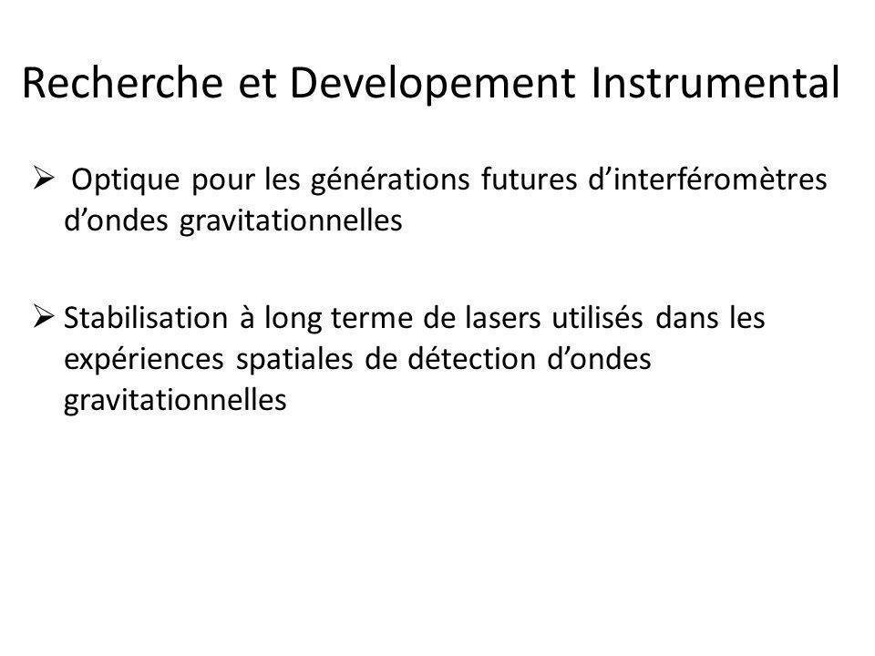 Recherche et Developement Instrumental  Optique pour les générations futures d'interféromètres d'ondes gravitationnelles  Stabilisation à long terme de lasers utilisés dans les expériences spatiales de détection d'ondes gravitationnelles