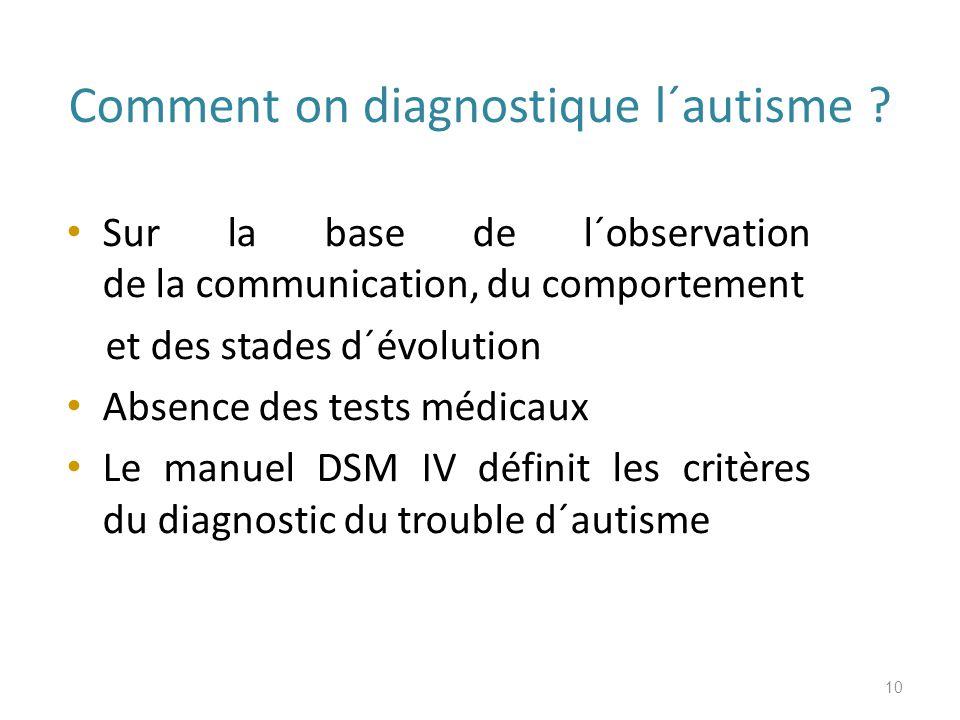 Comment on diagnostique l´autisme .