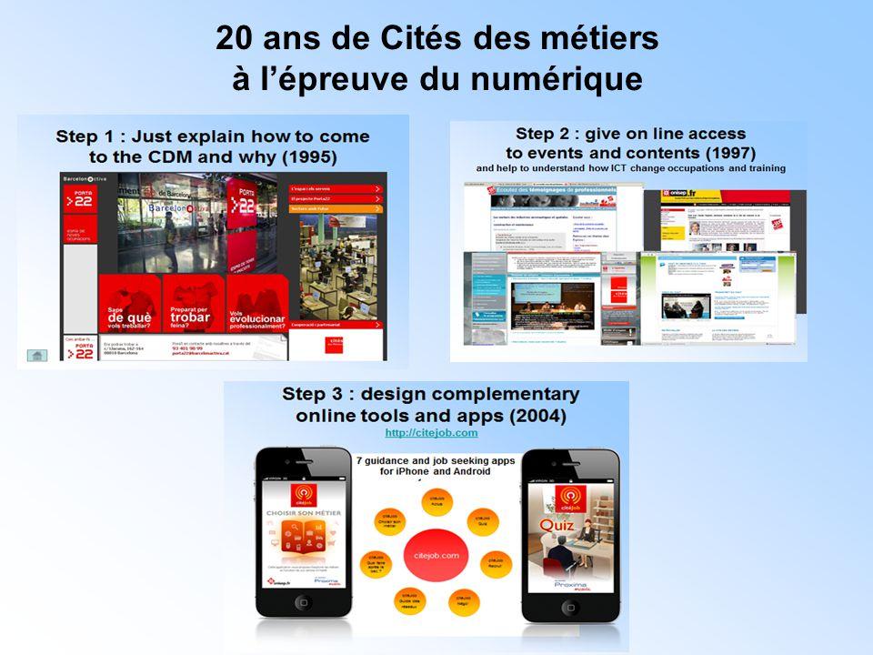20 ans de Cités des métiers à l'épreuve du numérique