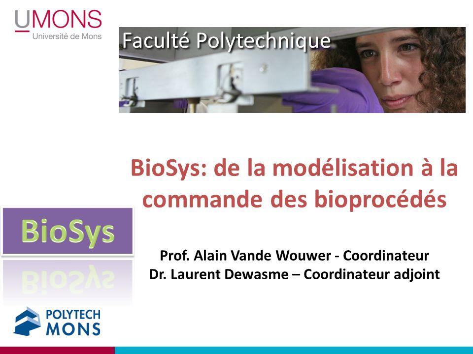 Faculté Polytechnique BioSys: de la modélisation à la commande des bioprocédés Prof. Alain Vande Wouwer - Coordinateur Dr. Laurent Dewasme – Coordinat