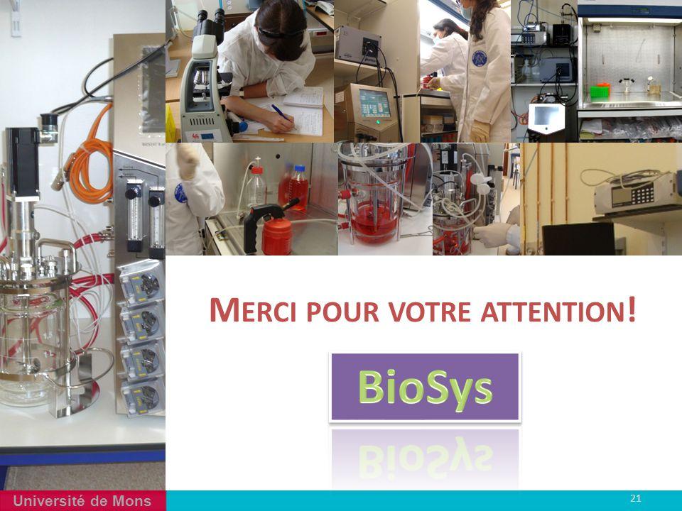 Université de Mons 21 4 M ERCI POUR VOTRE ATTENTION !