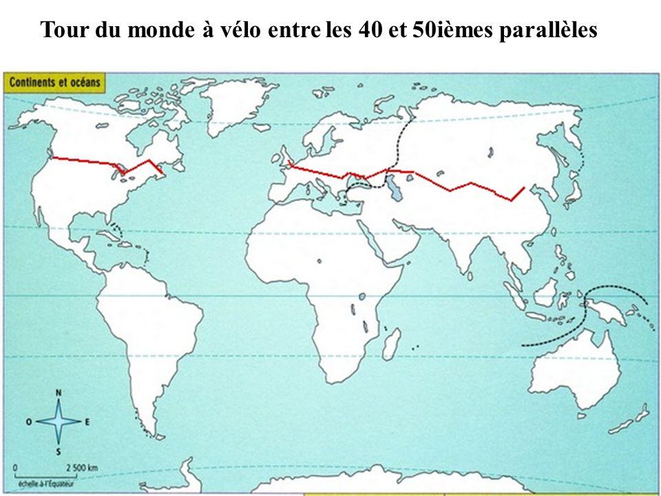 Tour du monde à vélo entre les 40 et 50ièmes parallèles