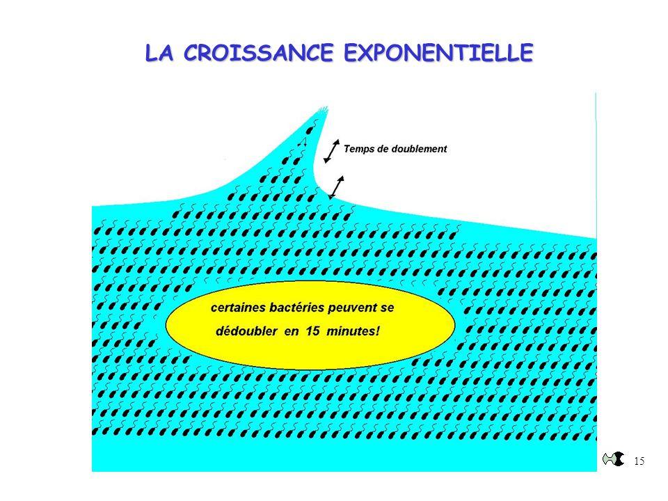 15 LA CROISSANCE EXPONENTIELLE